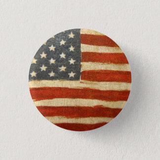 Old Glory American Flag 3 Cm Round Badge