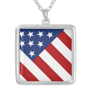 Old Glory American Flag Necklaces