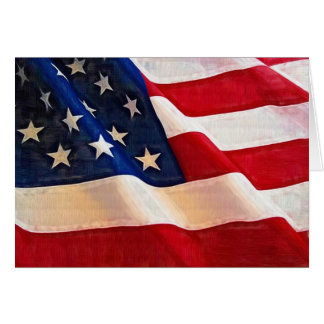 Old Glory American Flag Ripples Greeting Card