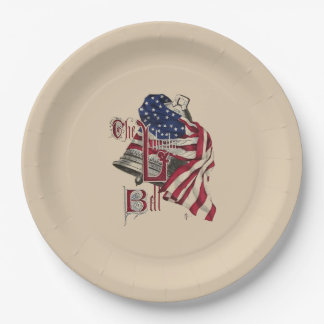 Old Glory and Liberty Bell Paper Plates