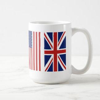 Old Glory and Union Jack Flags. Coffee Mug