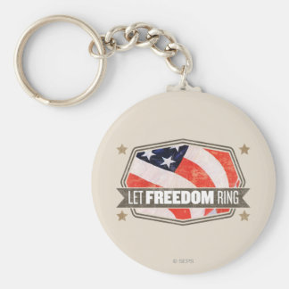 Old Glory Basic Round Button Key Ring
