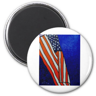 Old Glory Flag 6 Cm Round Magnet