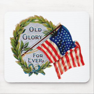 Old Glory Forever Vintage Flag Mouse Pads