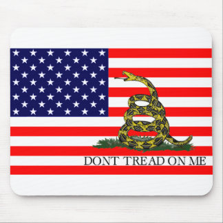 Old Glory / Gadsden Flag Combo Mouse Pad