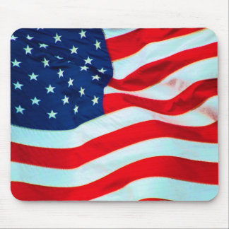 Old Glory In The Breeze Mousepads