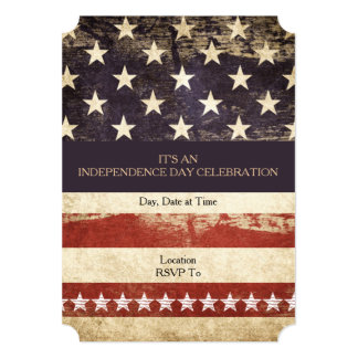 Old Glory July 4th Party Invitation