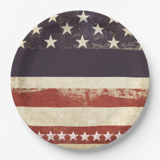 Old Glory July 4th Party Paper Plates 9 Inch Paper Plate