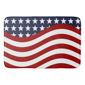 OLD GLORY! (patriotic flag design) ~ Bath Mats