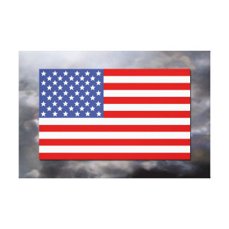 Old Glory ( set against a threatening sky ) Canvas Prints