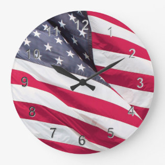 Old Glory....The American Flag. Large Clock