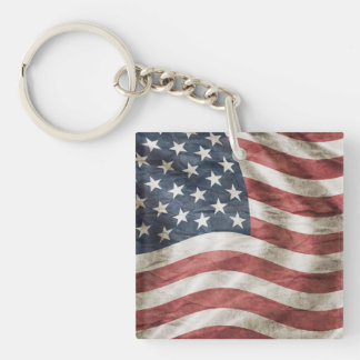 Old Glory US Flag Red, White and Blue Key Ring