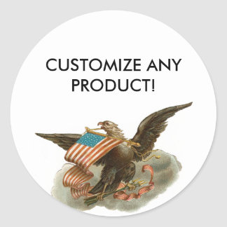 Old Glory's Eagle Classic Round Sticker