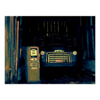Old GMC Farming Truck I Photographed. Poster