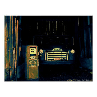 Old GMC Farming Truck Poster