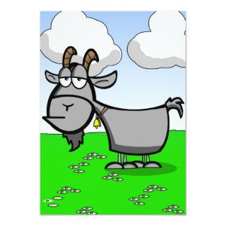 Old Goat Cartoon Card 13 Cm X 18 Cm Invitation Card