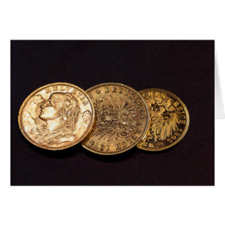 Old Gold Coins Greeting Card