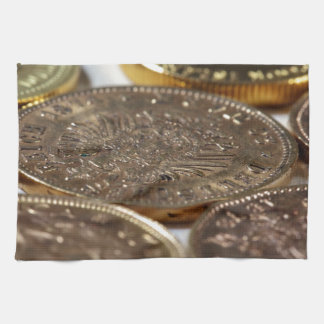 Old Gold Coins Hand Towel