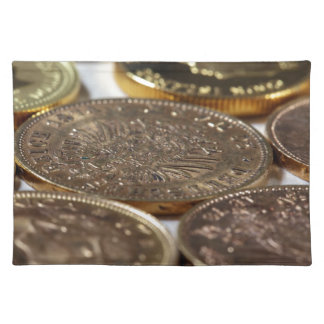 Old Gold Coins Place Mats