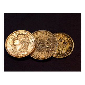 Old Gold Coins Postcard