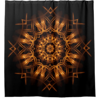 Old Gold Copper Medallion Shower Curtain