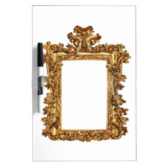 Old gold frame isolates on white dry erase boards