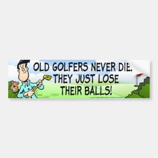 Old Golfer Car Bumper Sticker