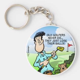 Old Golfer Keychains