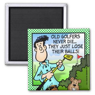 Old Golfer Refrigerator Magnet