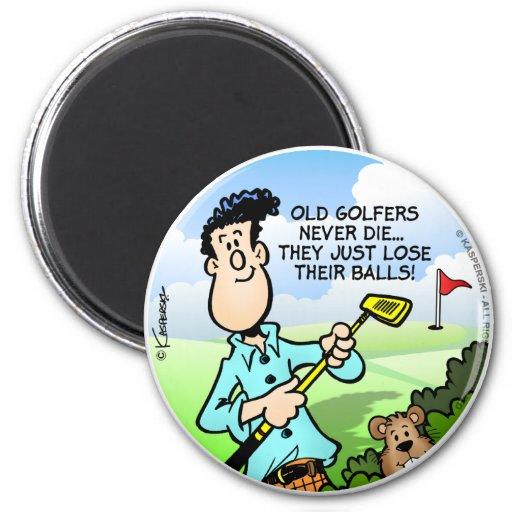 Old Golfer Refrigerator Magnets