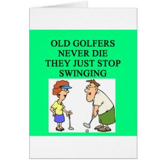 old golfers never die card
