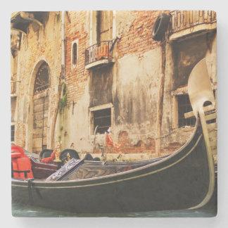 Old Gondola on the river Stone Coaster
