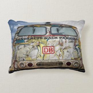 Old graffiti truck decorative cushion