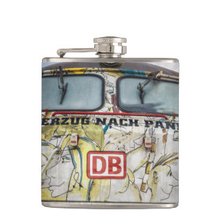 Old graffiti truck hip flask