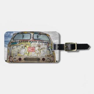 Old graffiti truck luggage tag