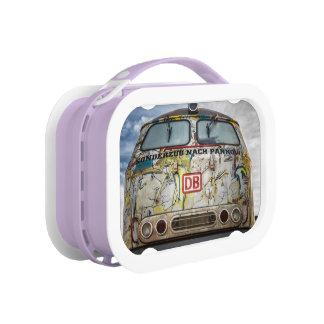 Old graffiti truck lunch box