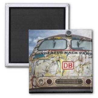 Old graffiti truck magnet