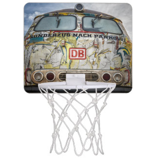 Old graffiti truck mini basketball hoop