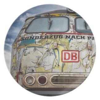 Old graffiti truck plate