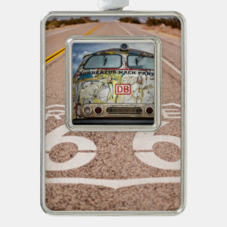 Old graffiti truck silver plated framed ornament
