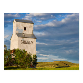 Old Grain Elevator In Virgelle, Montana, USA Postcard
