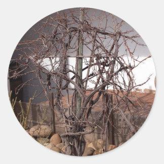 Old Grape Vines Round Sticker