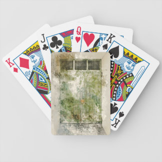 Old Green Door Bicycle Playing Cards