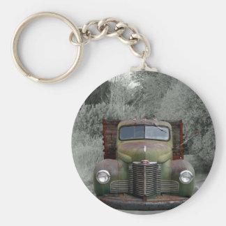 Old Green International Truck Keychains