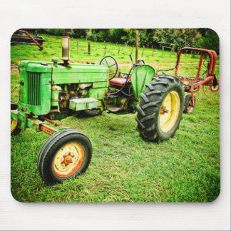 Old green tractor mousepad