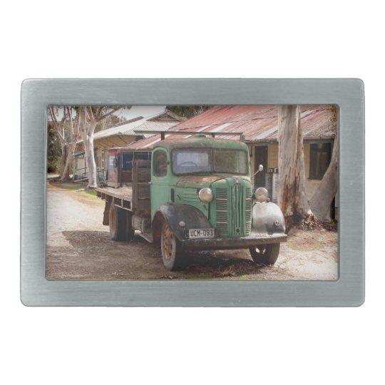 Old green truck belt buckles