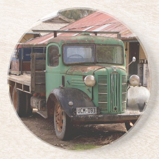 Old green truck coaster