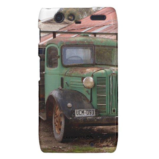 Old green truck motorola droid RAZR cover
