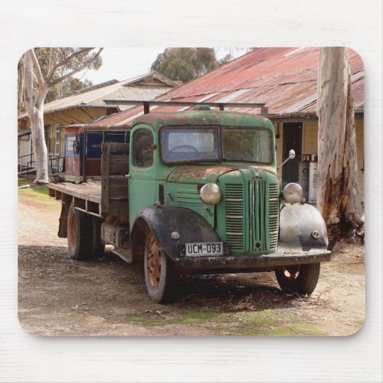Old green truck mouse pad