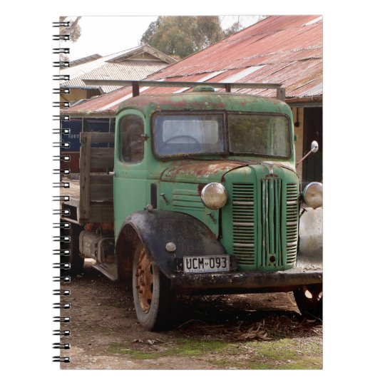 Old green truck notebook